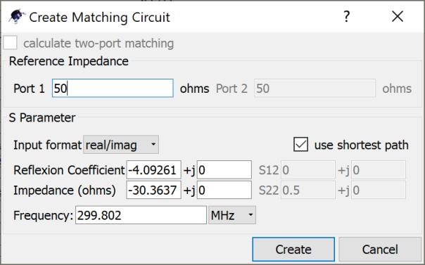 matching parameters